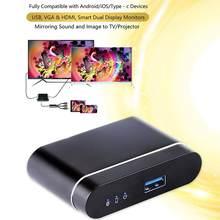 L9 Wired DLNA Miracast Airplay ekran klucz lustrzany TV Stick cyfrowy kompatybilny z HDMI wyjście wideo AV Streamer Display