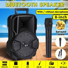Portable bluetooth Speaker with microphone Waterproof Outdoor Wireless Music Stereo Bass Subwoofer HIFI Sound Support FM TF Aux(China)