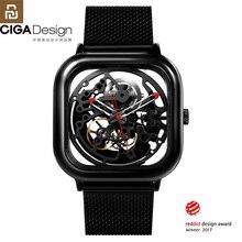 Youpin CIGA Reloj de pulsera mecánico ahuecado, Reddot Winner, de acero inoxidable, automático, de lujo, H27