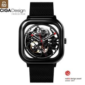 Image 1 - Youpin CIGA Reloj de pulsera mecánico ahuecado, Reddot Winner, de acero inoxidable, automático, de lujo, H27