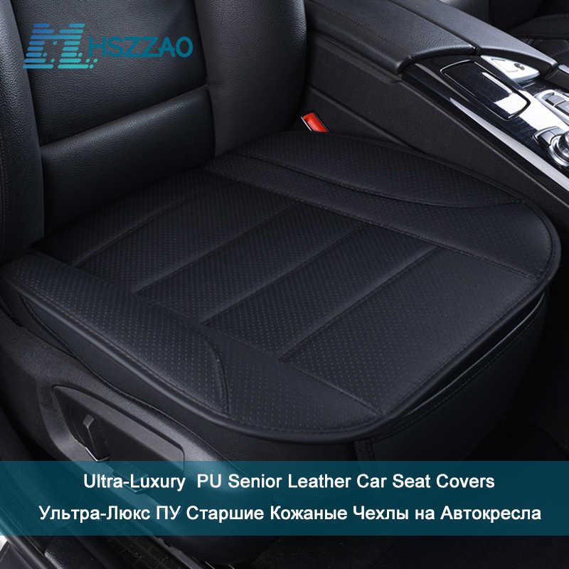 Proteção de assento de carro ultra-luxuosa, sem encosto único, cobertura de assento de carro em couro pu para a maioria de quatro pessoas porta sedan & suv
