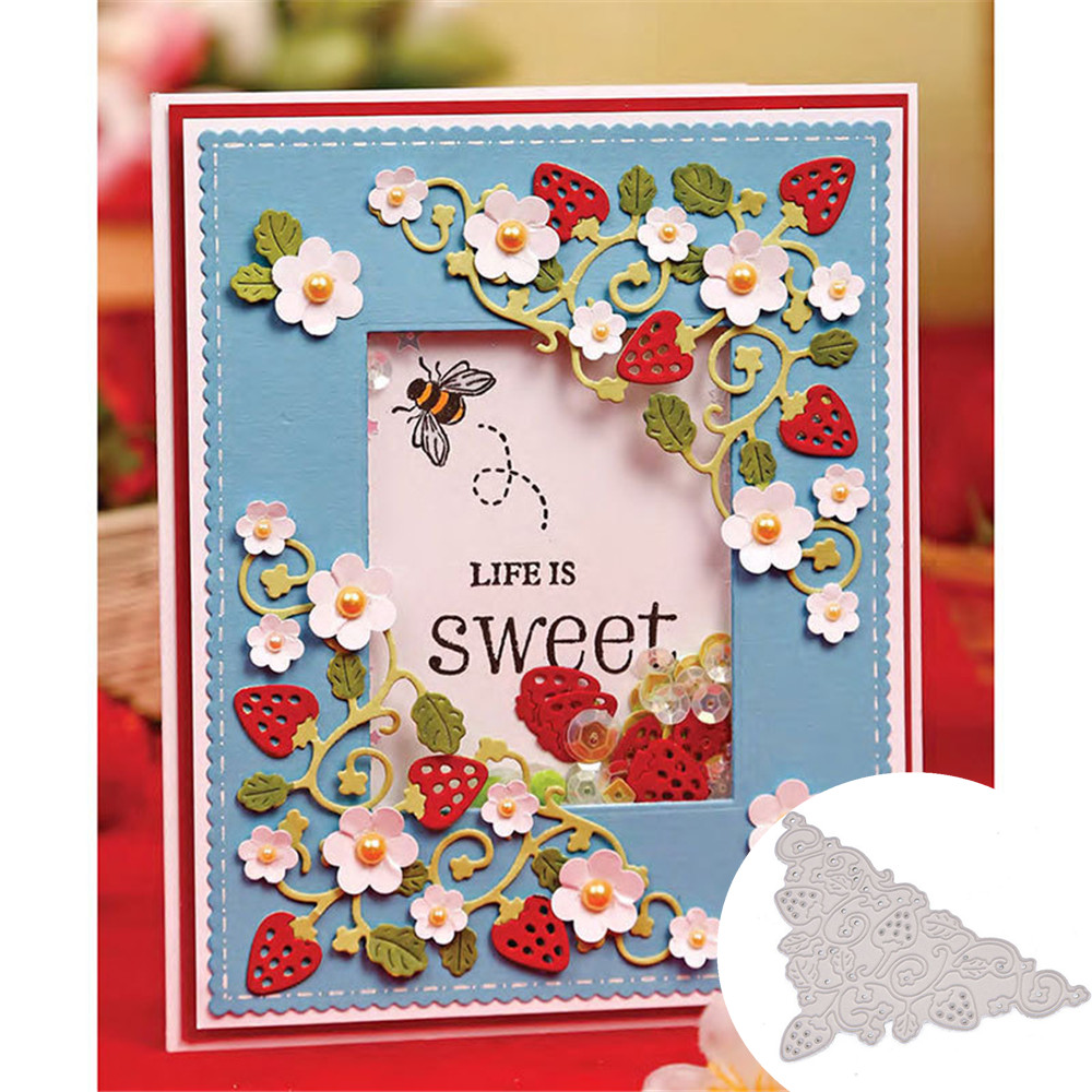 Strawberry Cutting Dies Stencil  Scrapbooking Album Paper Card Embossing