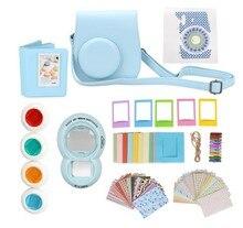 9 in 1 Instant Film Camera Album Bundles Kit Camera Case Bag for Fujifilm Instax Mini 8 Camera Accessory Decor Sticker