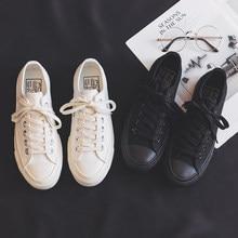 Kadın ayakkabısı 2020 yaz yeni moda siyah kadın ayakkabı rahat tuval klasik tarzı nefes rahat ayakkabılar beyaz ayakkabı