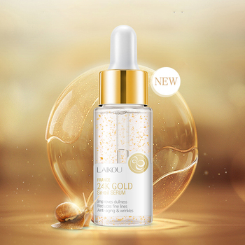 17ml 24K Gold Snail Serum Tense Moisture Essence Pure Gold Liquid Skin Care Essence For Women 1