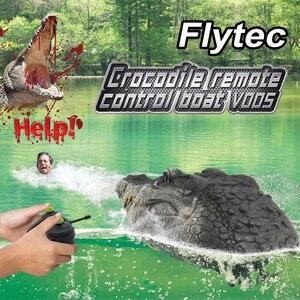 Flytec V005 RC лодка 2,4 г моделирование-голова крокодила водные гонки электрический пульт дистанционного управления детские игрушки brinquedos игрушк...