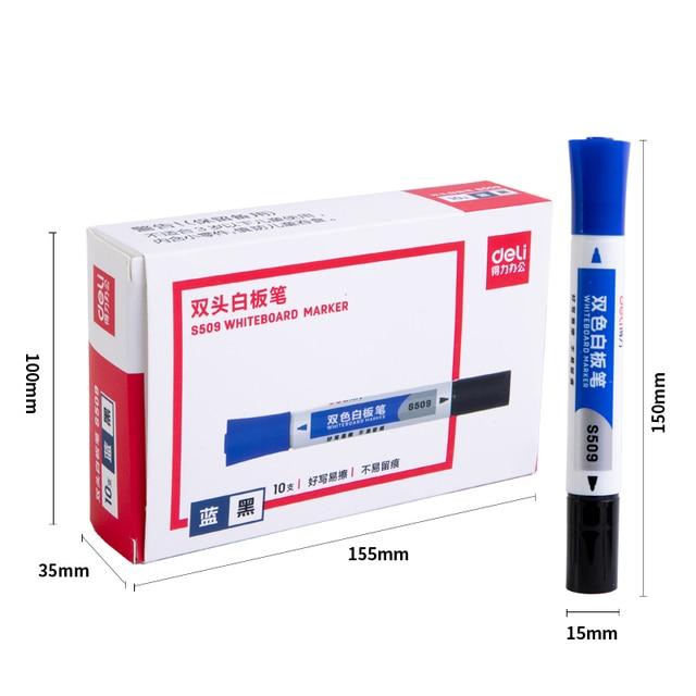 2 шт двусторонняя стираемый маркер для белой доски ручка синего фотография