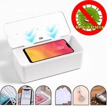 Multifuncional uv caixa de esterilizador do telefone móvel uvc lâmpada esterilizador desinfecção caixa para máscara acessórios smartphone ferramenta maquiagem