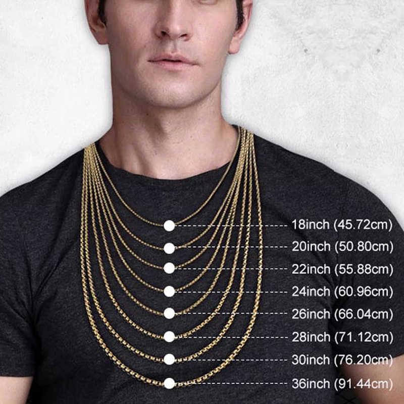 Łańcuch męski FIGARO LINK złoty srebrny wypełniony naszyjnik biżuteria męska prezent dla mężczyzn 20 i 24 cali