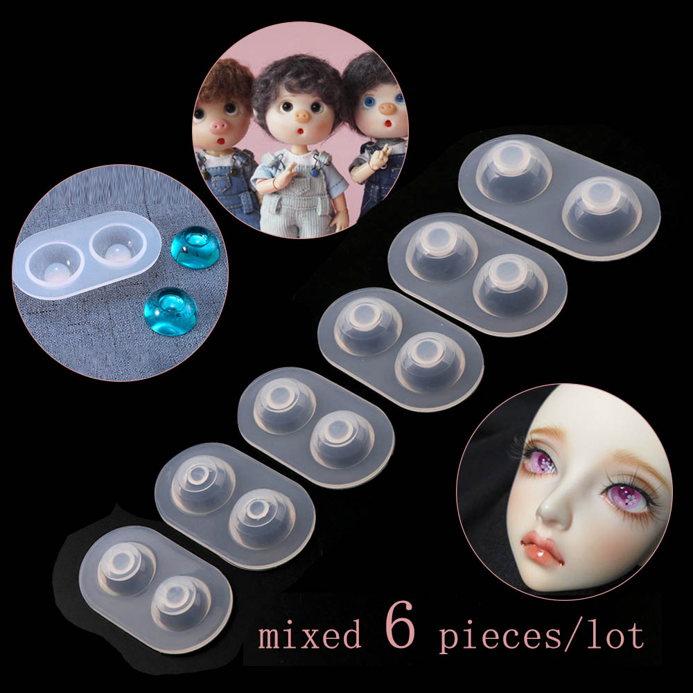 Diy Crystal Glue Plastic Doll Eye Mold Fundus Silicone Mold Doll Resin Eye Mold SD Sink