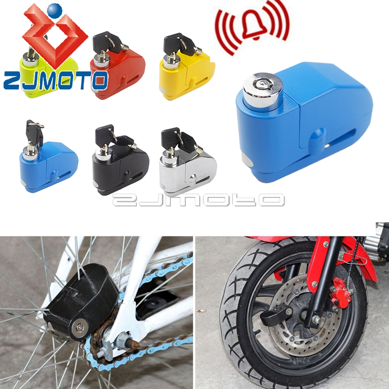 Motorcycle Bike Scooter Anti-theft Brake Disc Lock Wheel Alarm Security Loud