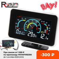 Medidor Digital de presión de aceite para coche, 3 en 1 voltímetro LCD, medidor de temperatura de agua 1/8 NPT, sensor de presión de aceite y sensor de temperatura del agua 10mm