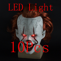 2019 Joker Pennywise 10 pcs Mask Stephen King It Chapter Two 2 for Adult Kids Horror Cosplay Latex Masks Halloween Party Costume