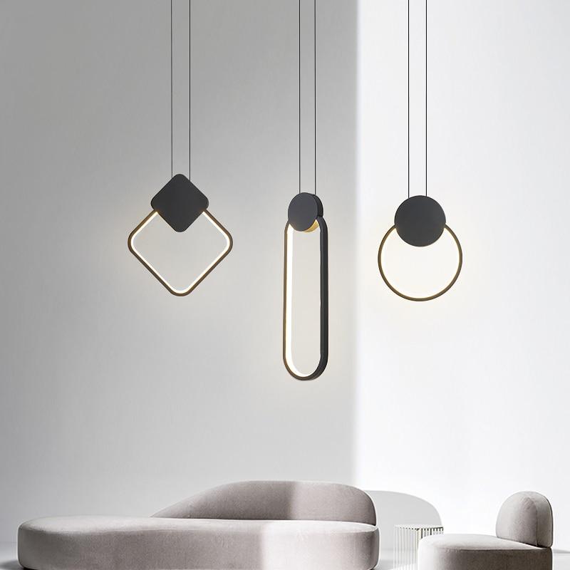 Modern Bedroom LED Pendant Lights Nordic Pendant Lighting Home Indoor Iron Lampshde Hanging  Lamp Suspension  Decoration