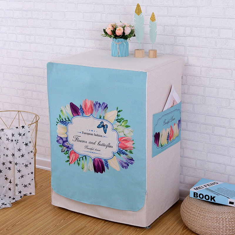 Washing Machine Covers Made Of High Quality Cotton linen Material For Home Accessories 1