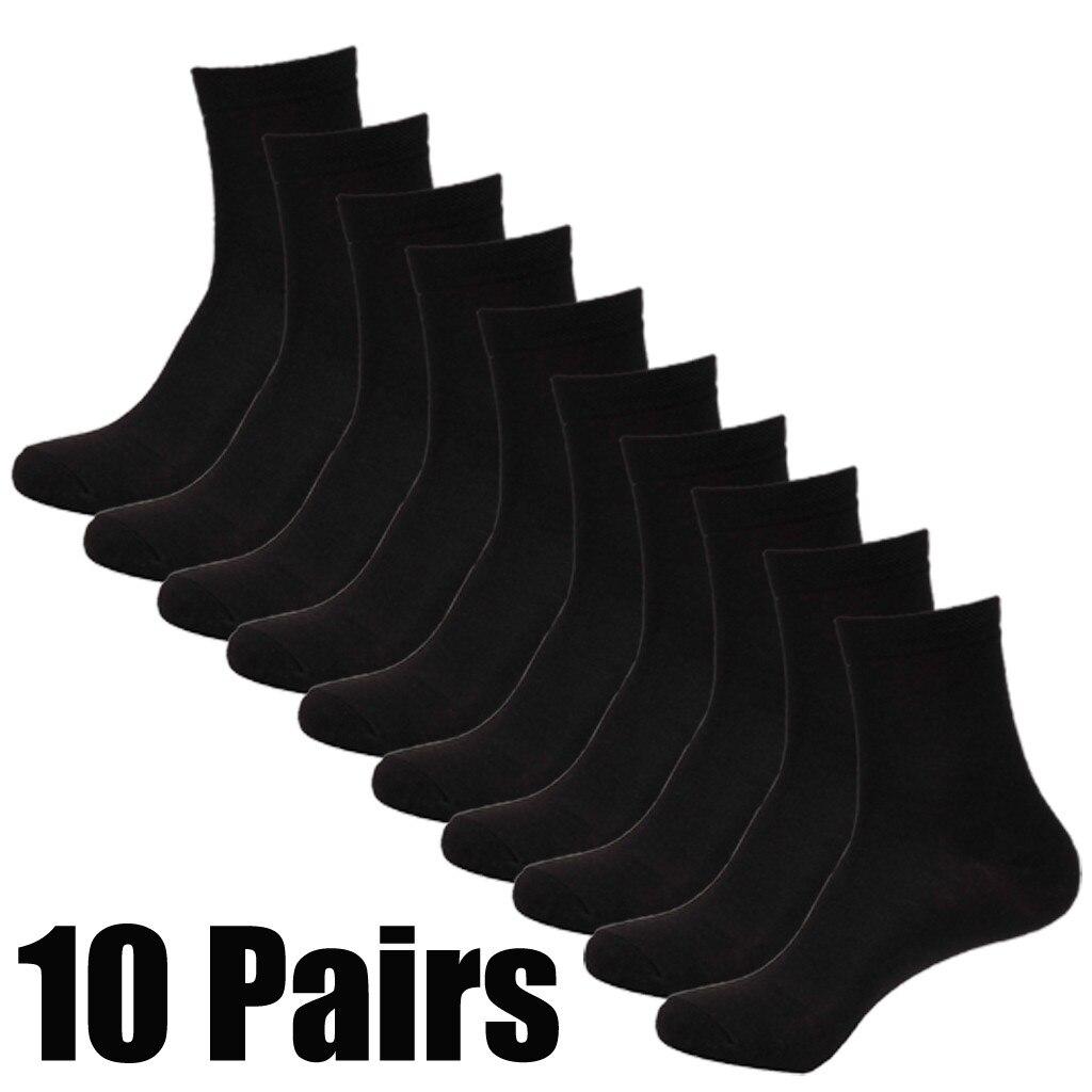 10 пар/лот хлопковые Носки размера плюс черный Носки в деловом стиле из дышащего материала; Сезон весна-лето-осень для Носки
