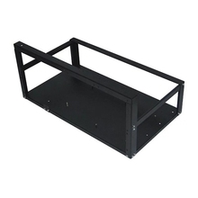 Steel Coin Open Air Miner Mining Frame Rig Case Up To 6-8 GPU Ethereum Bitcoin Mining Rig Aluminum Stackable Mining Frame