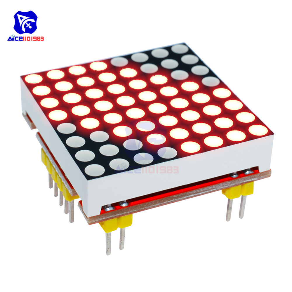 Diymore 8x8 Red LED Dot Matrix Common Cathode LED Module For Arduino Microcontroller