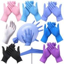 Одноразовые перчатки из нитрильного каучука и латекса, маслостойкие перчатки для проколов, для домашнего использования в стоматологии, XS/S/M...