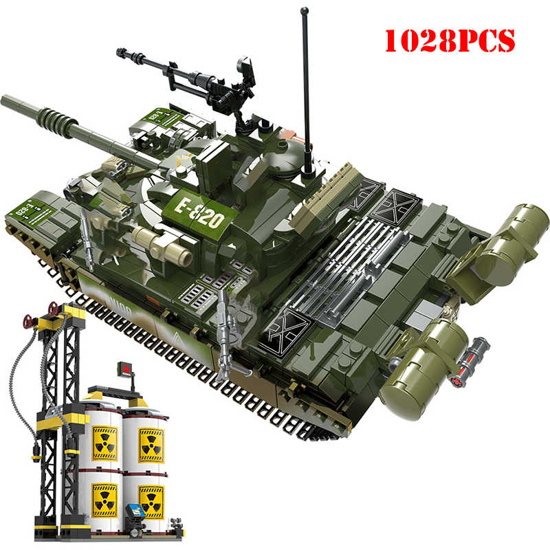 Military King Tiger Tank Army Soldier Figures Weapon Building Blocks Compatible Legoings Technic Army WW2 Bricks Toys For Child