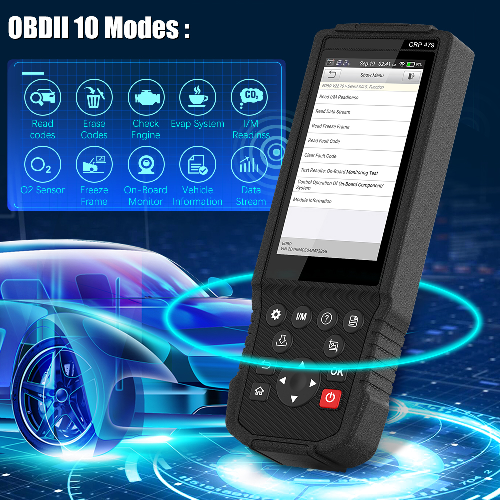 Closeout DealsLAUNCH OBD2 Scanner Car-Diagnostic-Tool JOBD X431 WIFI CRP479 TPMS Reset DPF Epb-Oil