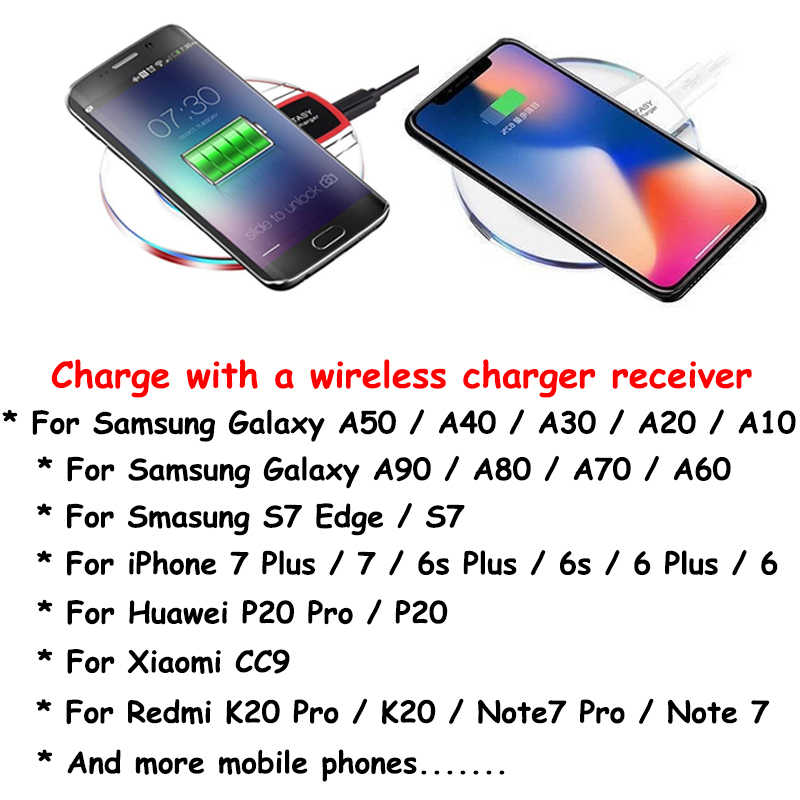 Беспроводное зарядное устройство зарядного устройства для iPhone XS MAX XR X 8 Plus чехол для samsung S10 S9 S8 Plus Note 9 8 Chargeur Sans fil Coque