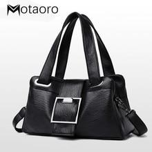 New Bag Women Leather Handbags Vintage Soft Leather Female Crossbody Shoulder