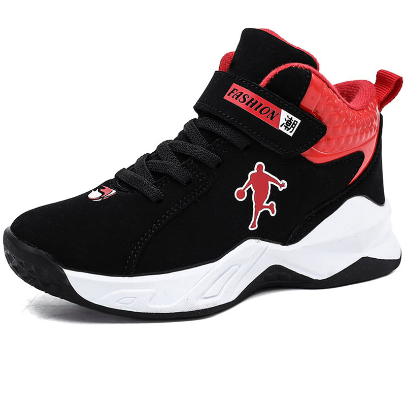 High Quality Thick Sole Non-slip Kids Sneakers Top Warm Boys Basketball Shoes Children Sport Shoes Outdoor Boys Basket Ball Shoe