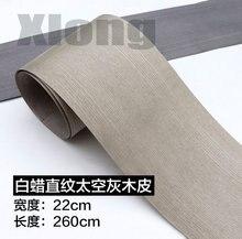 Length: 2.5 Meters Width: 20cm Thickness:0.3mm White Wax Straight Space Ash Wood Veneer length 2 5 meters width 15cm thickness 0 25mm decoration door stickers veneer