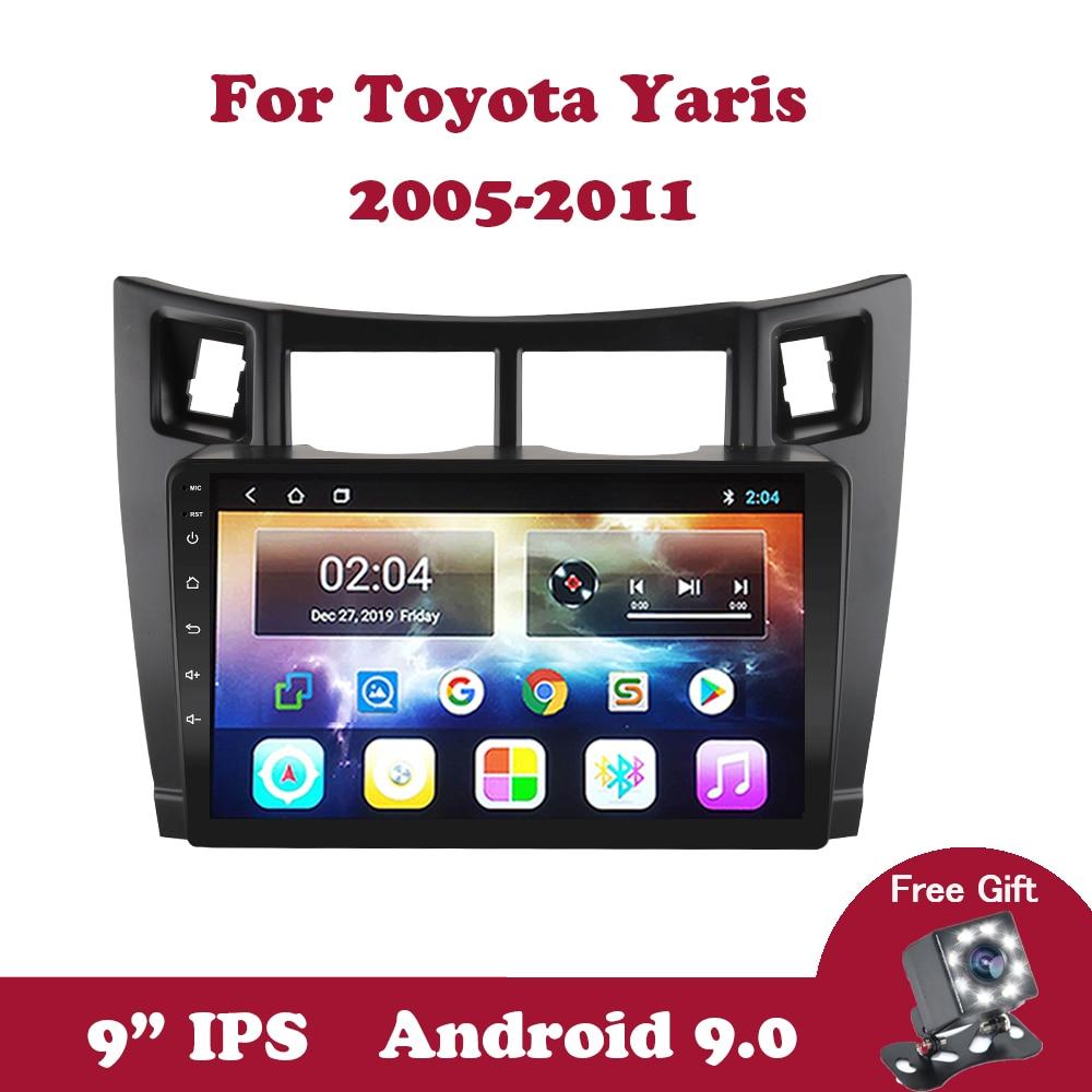 Android 9.0 2.5D 2Din Car Radio For Toyota Yaris XP90 2005-2011 Multimedia Video Player Navigation GPS Autoradio BT OBD Carplay