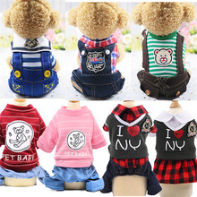 Cartoon Dog Pet Clothes For Dogs Coat Jacket Cotton Ropa Perro French Bulldog Clothing Pets