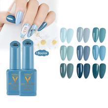 18 цветов джинсовый синий Гель-лак УФ замачиваемый Гель-лак для маникюра Лак для ногтей