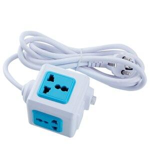 Image 5 - האיחוד האירופי תקע רב Powercube כוח רצועת אוניברסלי 2 USB 4 חנויות Extender חשמלי 1.8M כבל שקע רשת מסנן של בית משרד