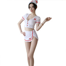 цена на Erotic cosplay nurse uniform temptation adult sexy lingerie uniform uniform white sexy doctor costume women sex game Costumes