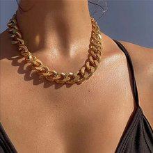 Modyle punk hip hop curb cubana grosso curto gargantilha colar masculino simples minimalista chunky colar feminino jóias festa