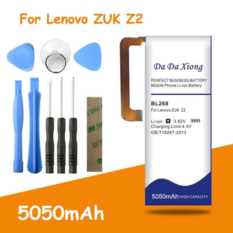 High capacity 5050mAh BL268 battery for Lenovo zuk Z2 Z2131 Replacement batteria + free tools image