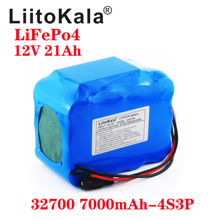 LiitoKala 32700 Lifepo4 Battery Pack 4S3P 12.8V 21Ah with 4S 20A Maximum 60A Balanced BMS for Electric Boat Uninterrupted Power