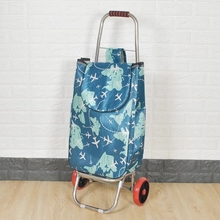 Elderly Trolley cart Woman shopping cart 6Wheels shopping basket stairs Trailer Portable cart Large shopping bag stainless steel cheap Canvas CN(Origin) 3 2 kg 54 cm Carry-Ons 20 cm Spinner 32 cm FAN5 Luggage Unisex