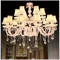 Venda quente branco k9 lustre de cristal lustre de cristal opcional lustres vela ac garantido k9 crystal chandelier crystal chandelier cristal chandeliers -