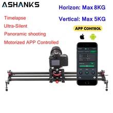 ASHANKS Bluetooth углеродная камера, направляющая для отслеживания фокуса, моторизованный электрический контроль, слайдер с задержкой, направляющая для съемки времени