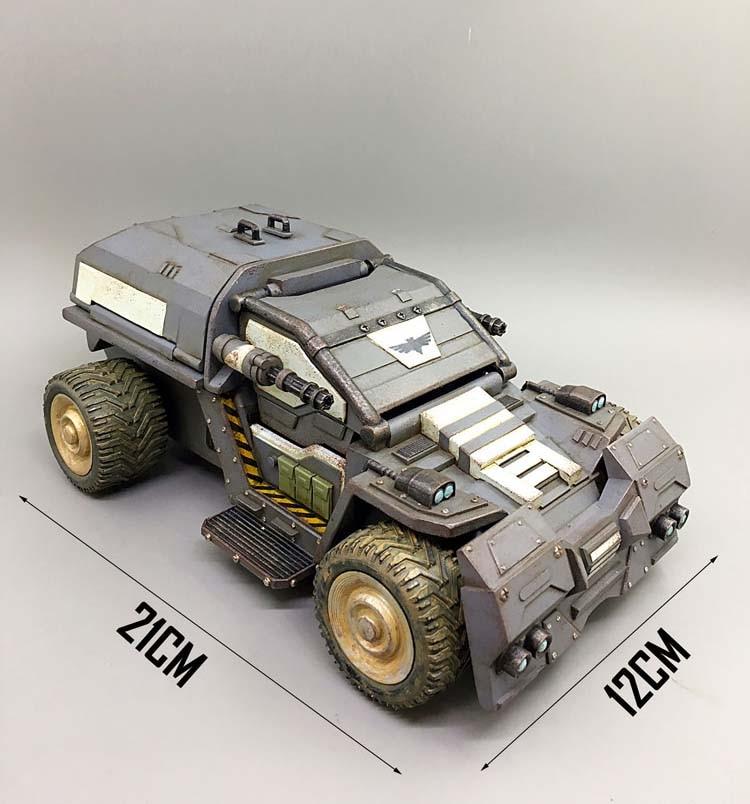 В наличии детские подарки 1/27 весы 21 см диких носорогов Скаут штурмовая машина модель грузового автомобиля для фанатов детские подарки - 6