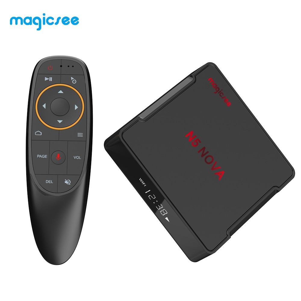 MAGICSEE N5 NOVA Smart TV Box RK3318 2 GB/4 GB 32 GB/64 GB ROM 4K TV décodeur double bande WiFi BT4.0 TV Box commande vocale