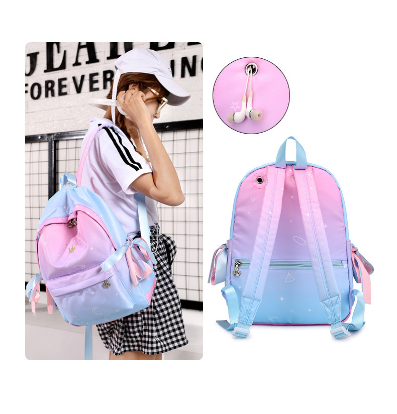 Backpacks For Girls Children Schoolbags Mochilas Escolar Pink For Teenage Girls Children Primary School Bags Women Backpack