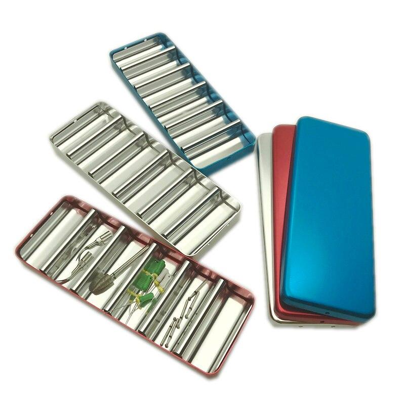 Dental Bur Holder Block Sterilizer Case Disinfection Endo Box Rack For Dentist 1pc