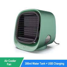 Air Cooler Fan Mini Desktop Air Conditioner Mini USB Water Cooling Fan Humidifier Purifier With Night Light
