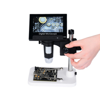USB microscope 1600x USB Digital Electronic Microscope Portable 8 LED Microscope With 4.3 HD Screen for pcb motherboard repair