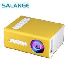 Salange T300 Mini LED Projector 1400 lumens 3.5mm Audio 320x240 HDMI USB Mini Beamer Home Media Player Support Full HD 1080P