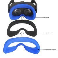 Oculus 퀘스트 VR 안경을위한 부드러운 땀 방지 실리콘 아이 마스크 케이스 커버 스킨