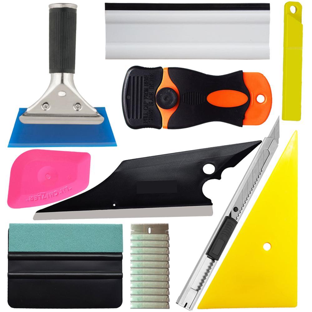 Car Sticker Wrapping Film Installing Tools Rubber Water Wiper Squeegee Art Knife Cutter Soft Scraper Triangle Corner Tool K106|  - title=