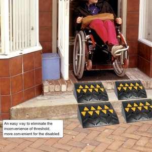 High-Quality Ramps Wheelchair-Threshold-Ramp Vehicle Driveway Rubber Car Curb Heavy-Duty